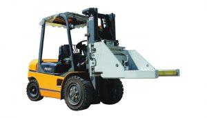 Forklift qoşma kərpic kelepçesi