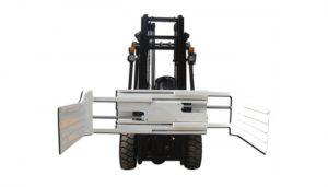 Forklift yük maşını üçün effektiv hidravlik fırlanan bale qarmaq
