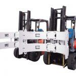 Forklift hissələri Forklift əlavələri Polad Rotator Kağız Roll Qapaq